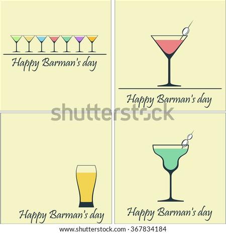 Happy Barman's day - stock vector