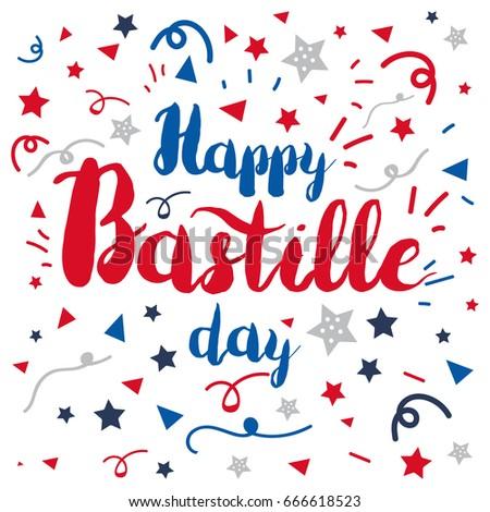 Happy bastille day celebration banner france stock vector 666618523 happy bastille day celebration banner france independence greeting vector m4hsunfo