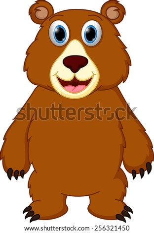 Happy bear cartoon  - stock vector