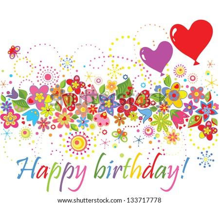 Happy birthday! - stock vector