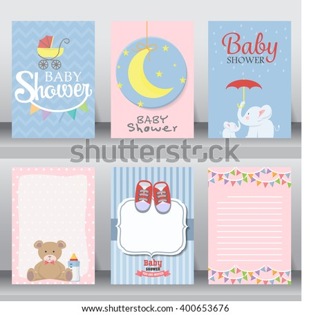 Happy Birthday Baby Shower Newborn Celebration Stock ...