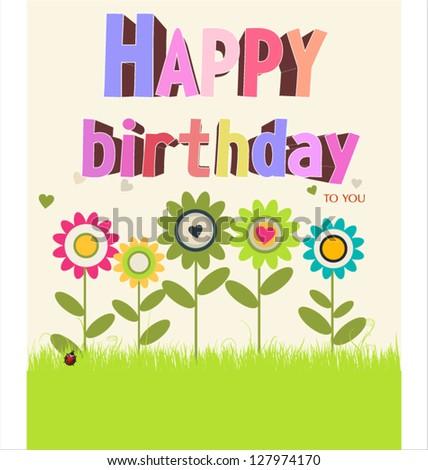 Happy birthday background - stock vector