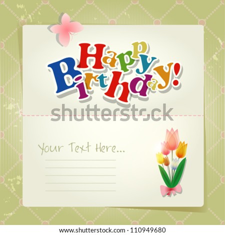 Happy birthday background or card. - stock vector
