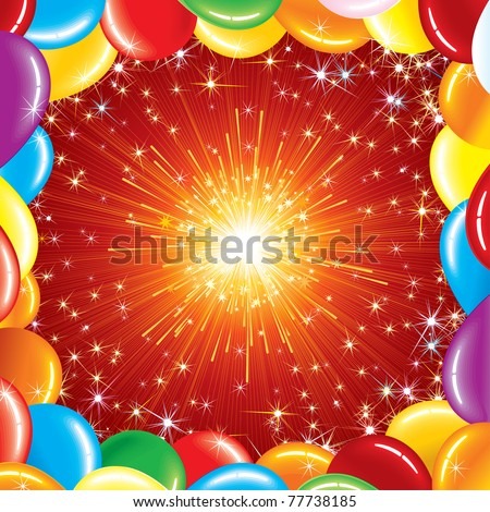 Happy Birthday Background, vector illustration for your greeting text or design - stock vector