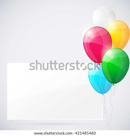 Happy birthday background with balloons.. Vector illustration - stock vector