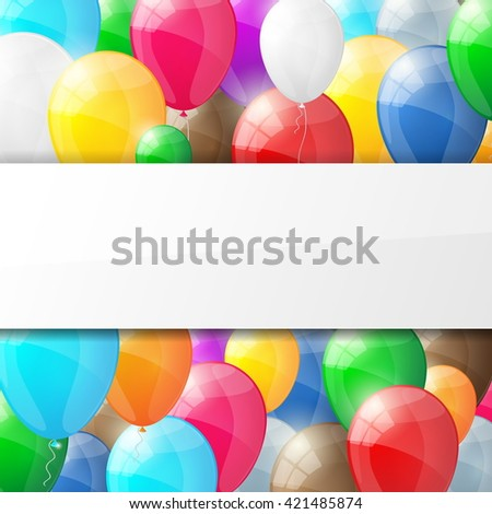 Happy birthday background with balloons.. Vector illustration. - stock vector