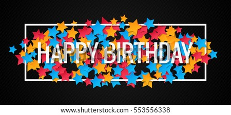 Happy Birthday Banner Design Background
