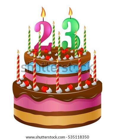 Happy birthday cake 23 stock vector 535118350 shutterstock happy birthday cake 23 thecheapjerseys Gallery