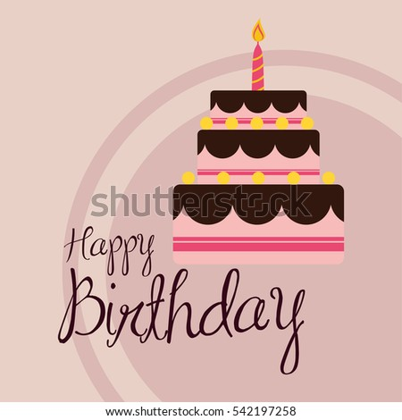 Happy birthday cake icon vector illustration graphic design
