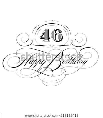 Happy Birthday Calligraphy  - stock vector