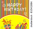 happy birthday Card. Celebration background. vector illustration - stock vector