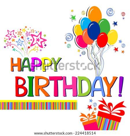 Happy Birthday Typography Vector Design Greeting Vector – Happy Birthday Text Card