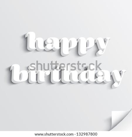 Happy birthday card design - stock vector