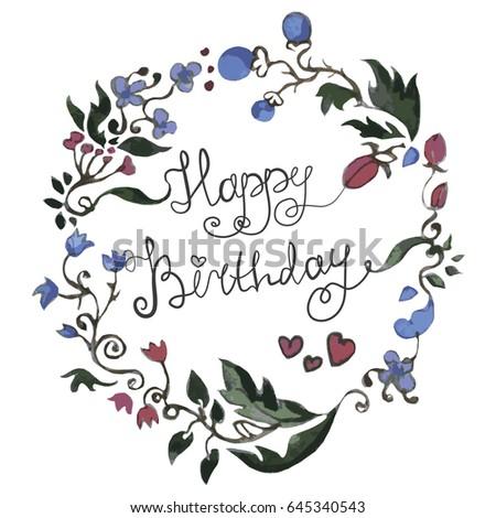Happy birthday card greeting invitation flower stock vector happy birthday card for greeting or invitation flower ornamental structure gift postcard stopboris Image collections