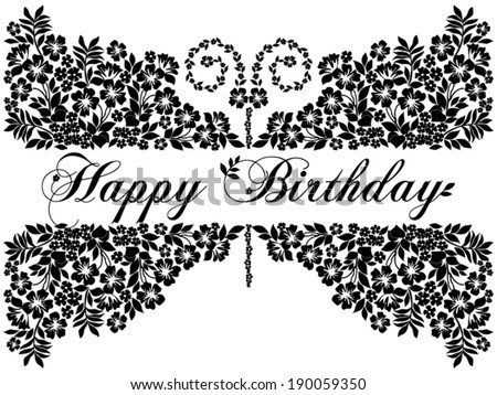 Happy Birthday Card Funny Butterfly Place Stock Vector 190059350