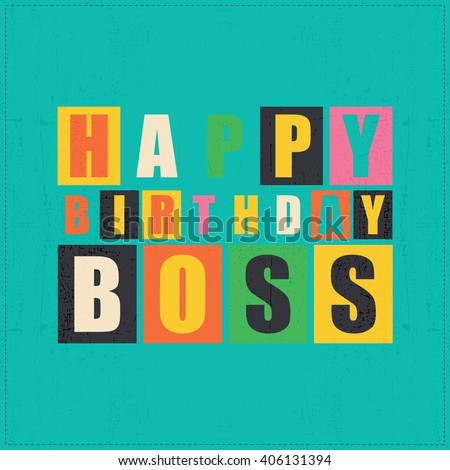 Happy Birthday Card Happy Birthday Boss Vector 406131406 – Happy Birthday Cards for Boss