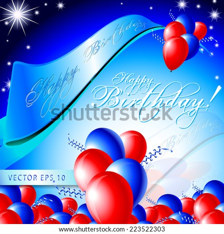 Happy Birthday Card   Layout Template   Eps10 Vector Background  Birthday Card Layout