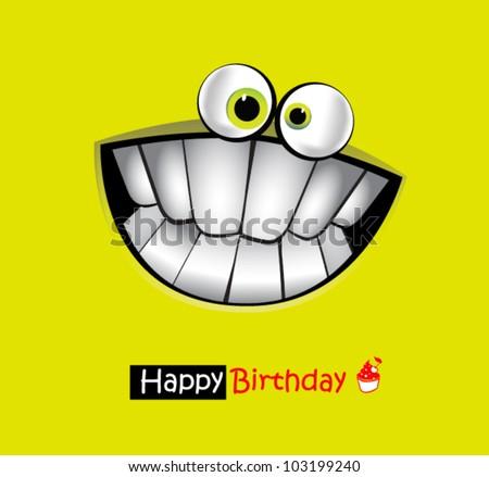 Happy Birthday Card smile - stock vector