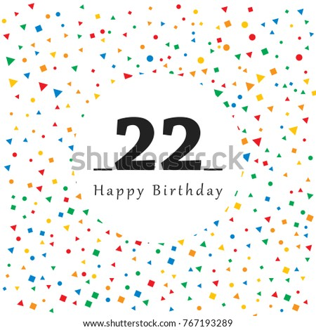 happy 22 birthday card abstract background stock vector royalty