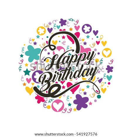 Logo Happy Birthday Card Vector And Clip Art Inspiration