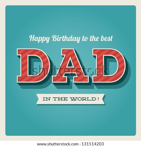 Happy Birthday Card Retro Type Font Stock Vector Hd Royalty Free