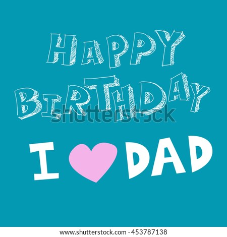 happy birthday dad vector father