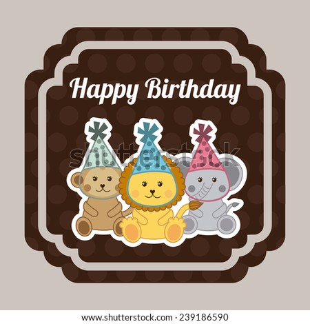 happy birthday design - stock vector