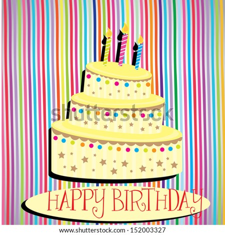 happy birthday design over lineal background vector illustration