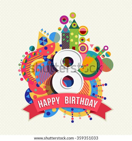 8th Birthday Stock Images Royalty Free Images Vectors 1 Year Happy Birthday Wishes