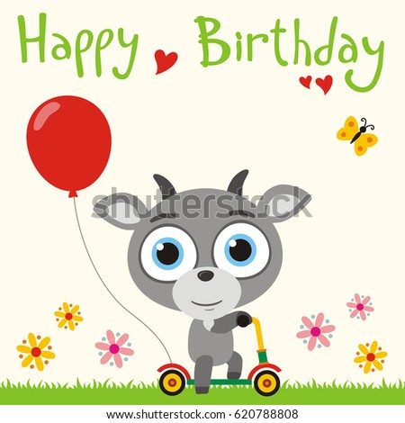 Birthday Goat Images RoyaltyFree Images Vectors – Goat Birthday Card