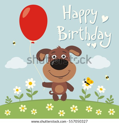 Happy Birthday Dog Images RoyaltyFree Images Vectors – Happy Birthday Cards with Dogs