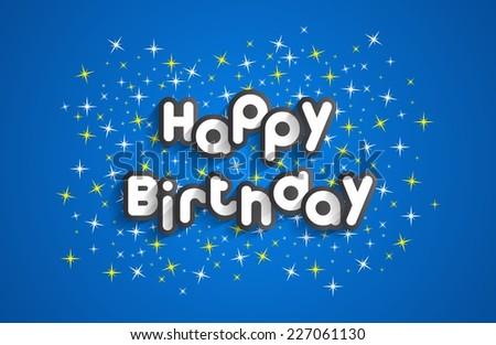 Happy Birthday Greeting Card On Stars Stock Vector Hd Royalty Free