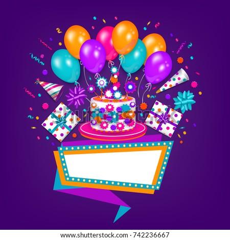 векторная иллюстрация в рейтинге M Rank Happy Birthday Greeting