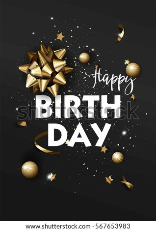 Happy Birthday Greeting Card Template Luxury Stock Photo Photo