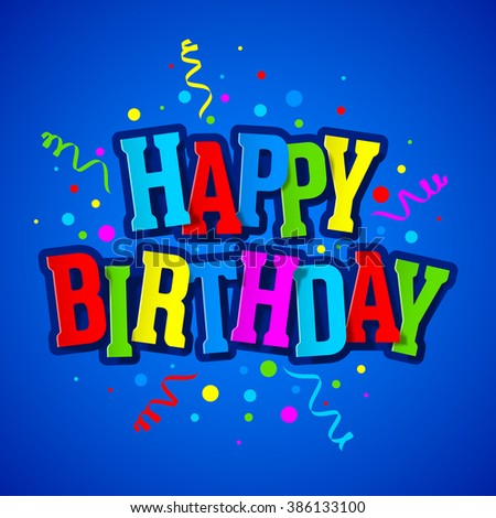 Happy Birthday Card Design Templatevector Illustration – Latest Birthday Greeting Cards