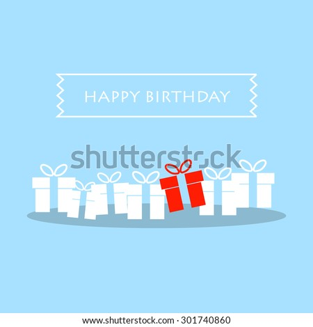 Happy Birthday greeting card vector eps 10 - stock vector