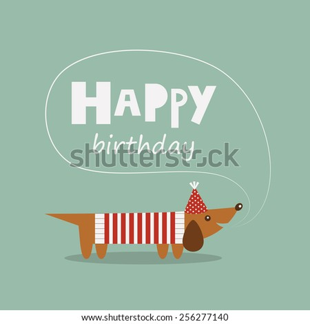 happy birthday greeting card. vector illustration - stock vector