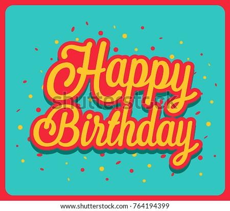 Happy Birthday Greeting Card Vector Illustration Stock Vector Hd