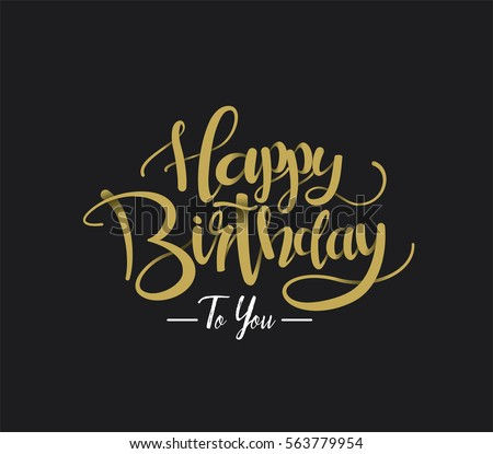Happy Birthday Greeting Card Lettering Design Vector – Latest Birthday Greeting Cards