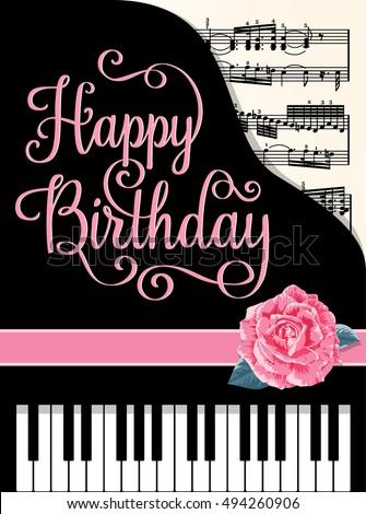 Happy Birthday Greeting Cards Design Classic Stock Vector 494260906