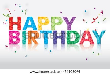 happy birthday greeting vector background - stock vector