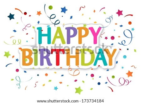 Happy birthday greetings  - stock vector