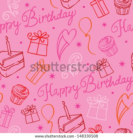 Happy Birthday icons background pattern