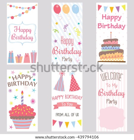 Happy birthday invitation cardbirthday greeting cardwelcome stock happy birthday invitation cardrthday greeting cardwelcome birthday party bannerparty stopboris Image collections