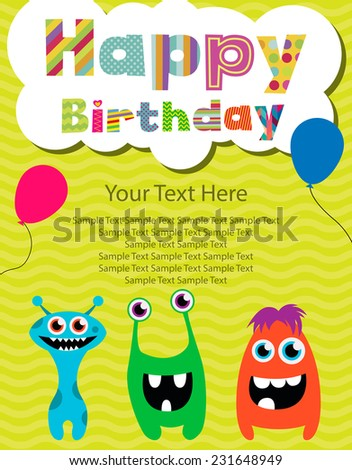 design for birthday invitation card