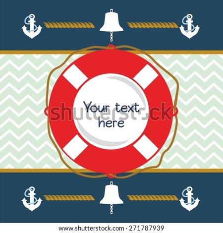 Happy Birthday Invitation Nautical Card Stock Vector 271787939