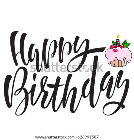 Birthday Blank Card Cupcake Stock Images, Royalty-Free Images ...