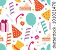 Happy Birthday party background - stock vector