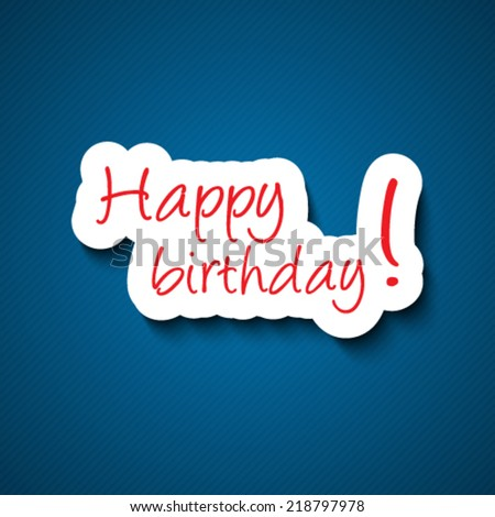 Happy birthday sign - stock vector