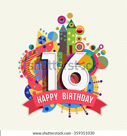 16th Birthday Stock Images Royalty Free Images Vectors Happy Sixteenth Birthday Wishes